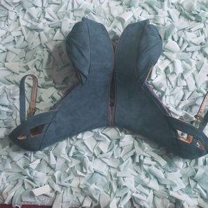 Wedge, open toe sandal